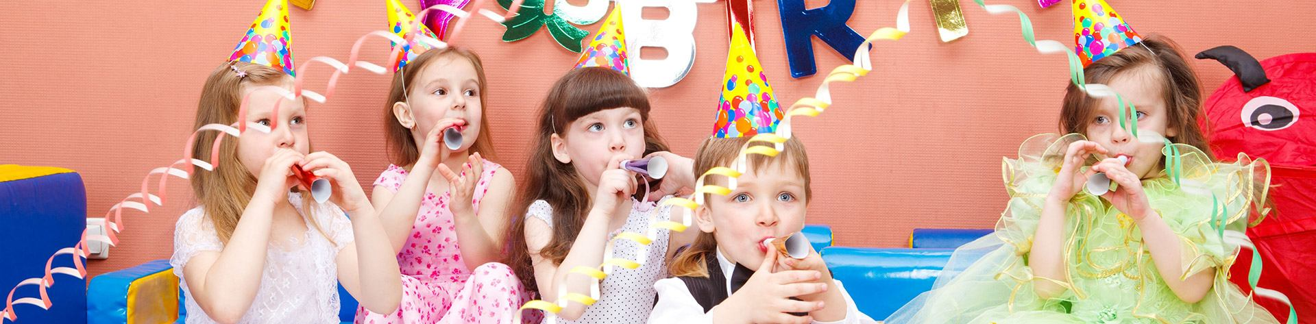 Young children celebrating